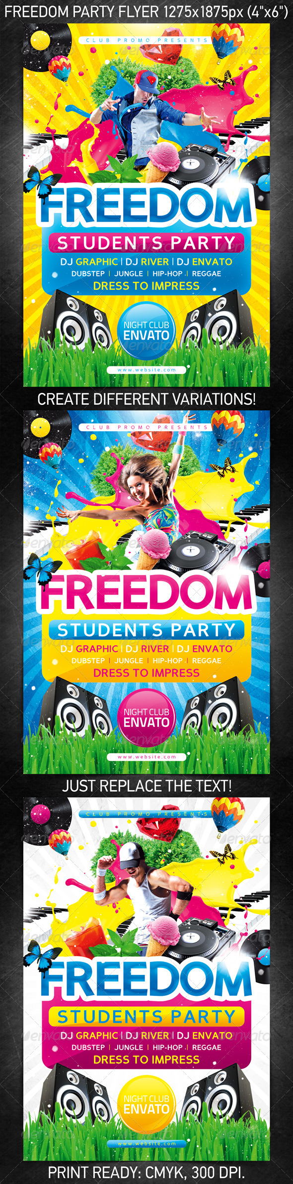 Freedom Party Flyer - Clubs & Parties Events