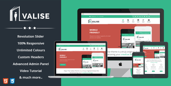 ThemeForest Valise Agency Personal Portfolio Theme 6414540