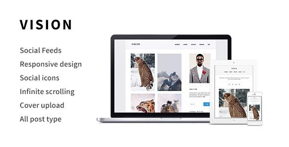 ThemeForest Vision A Responsive Tumblr Theme 6499573