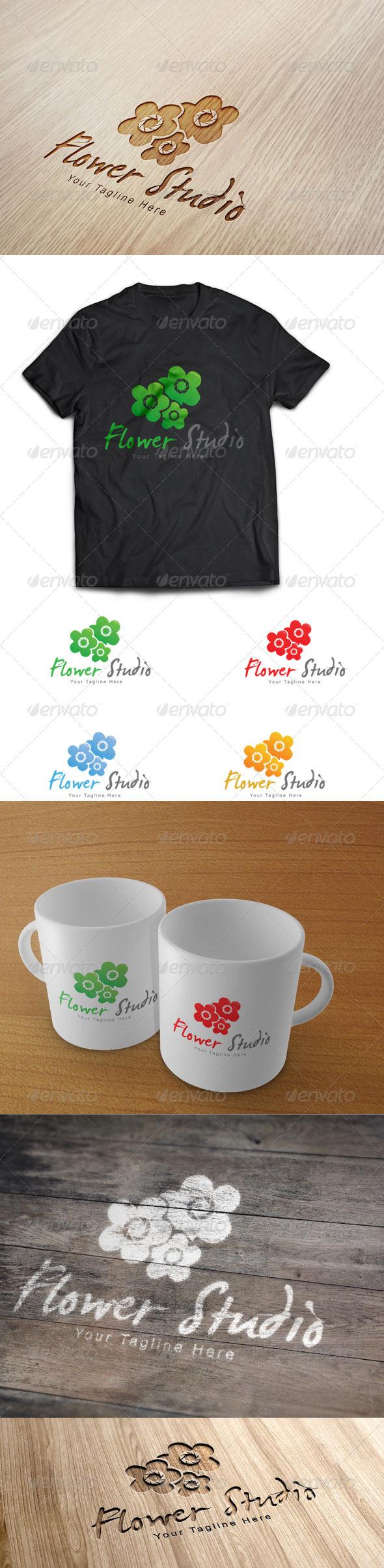 GraphicRiver Flower Studio Logo Template 6503377