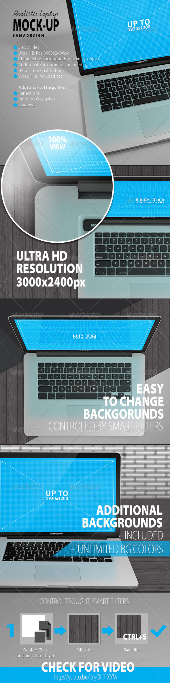 GraphicRiver Realistic Laptop Mockup 6503397