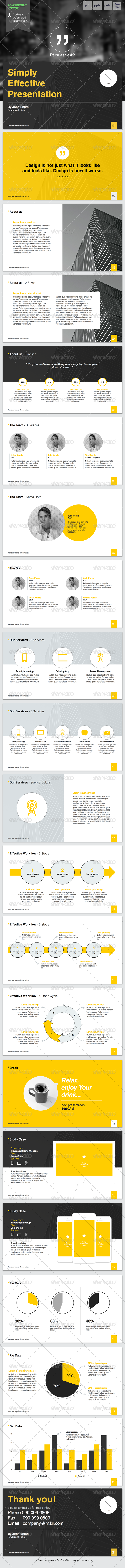 GraphicRiver Persuasive #2 Powerpoint Template 6490533