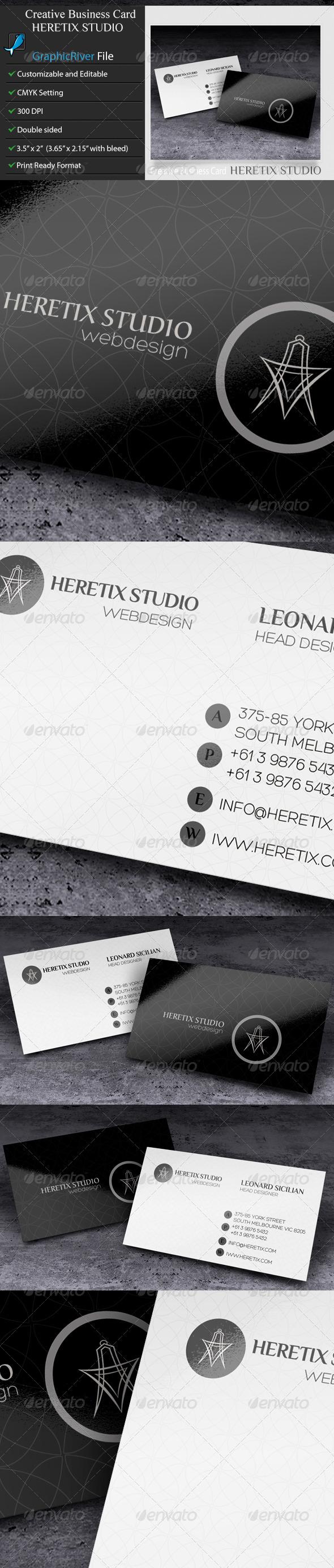 GraphicRiver Business Card Heretix Studio 6503451