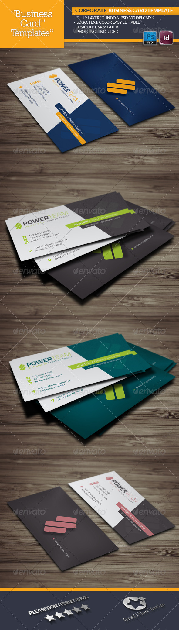 GraphicRiver Corporate Business Card Template 6503482