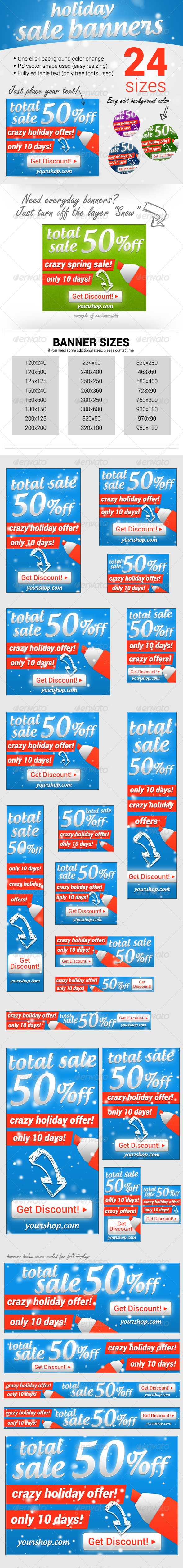 GraphicRiver Holiday Sale Ad Banners 6471476