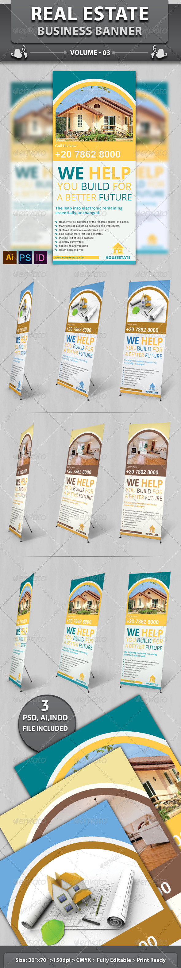 GraphicRiver Real Estate Business Banner Volume 3 6503518