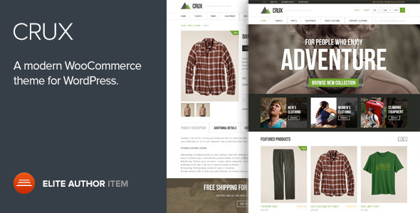 ThemeForest Crux A modern and lightweight WooCommerce theme 6503655