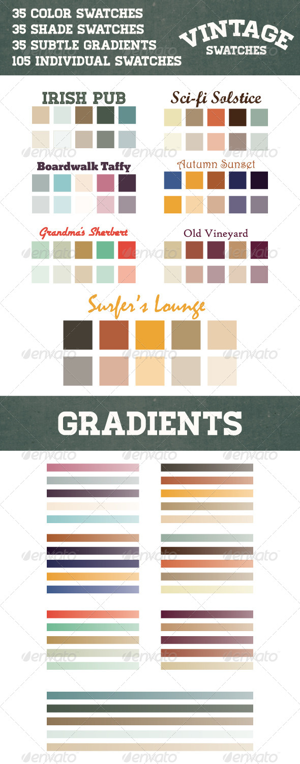 GraphicRiver Vintage Retro Swatches and Gradients in Ai and ASE 6503737