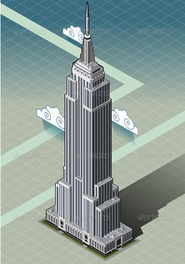 GraphicRiver Isometric Empire State Building 6503971