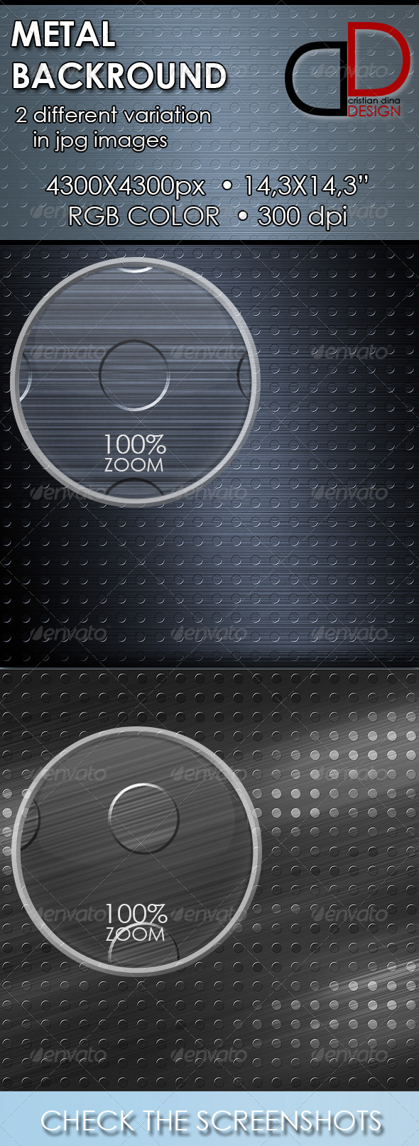 GraphicRiver Metal Backgrounds 6504057