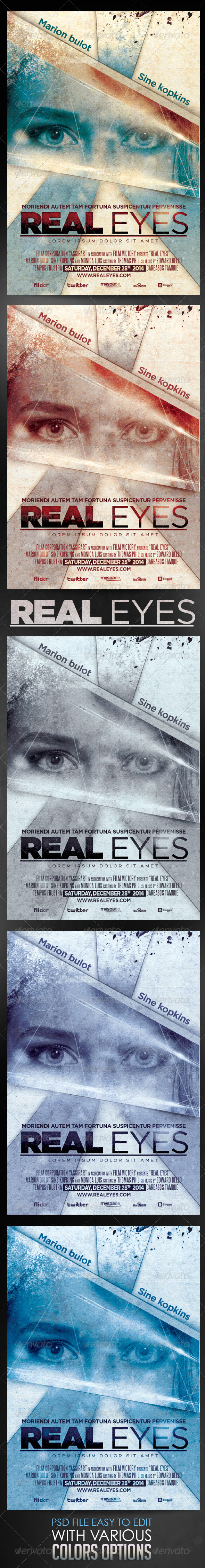 GraphicRiver Real Eyes Film Template 6504177