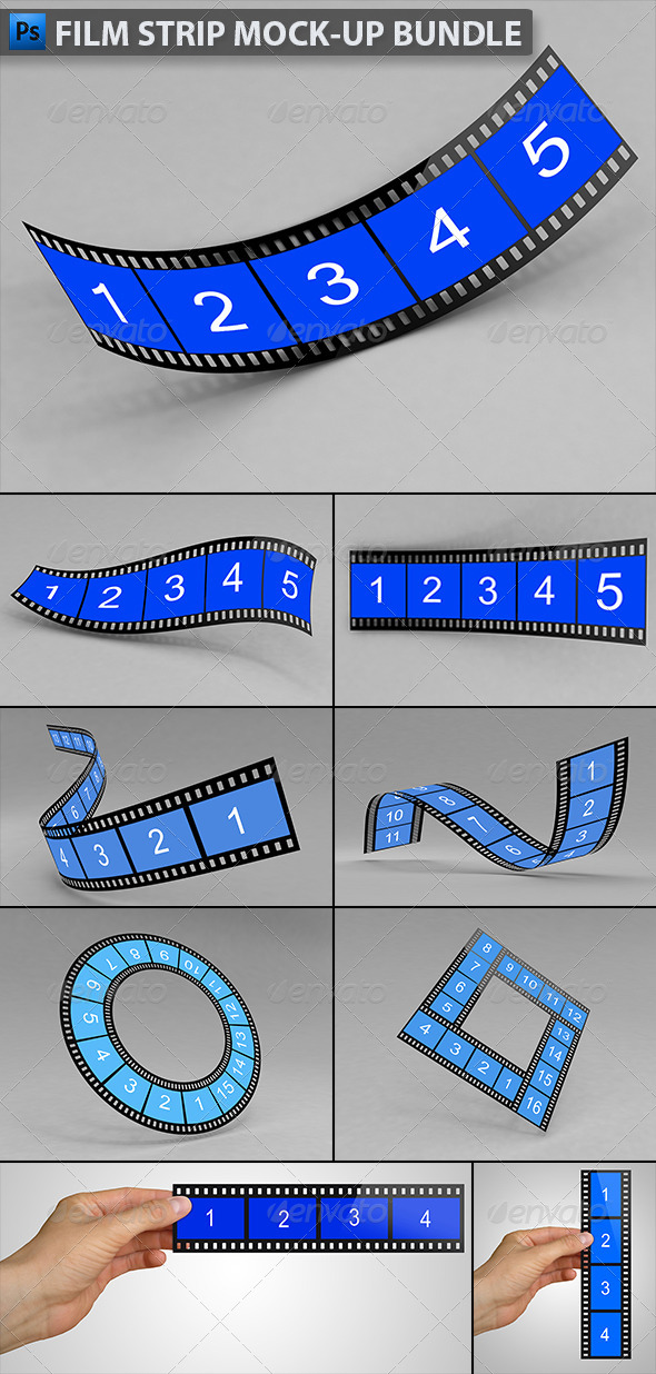 GraphicRiver Film Strip Mock-up Bundle 6504235