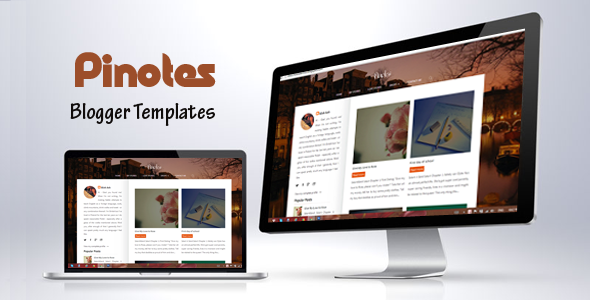 Pinotes - Responsive Blogger Template For Writers - Blogger Blogging
