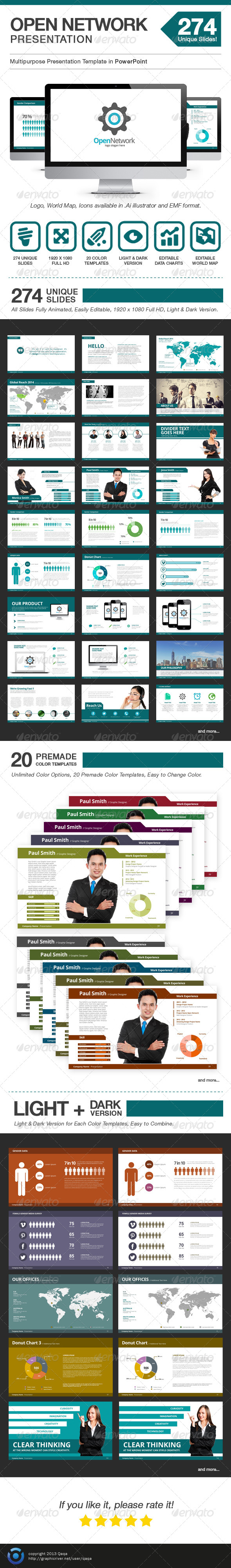 GraphicRiver Open Network Presentation Power Point Template 6485998