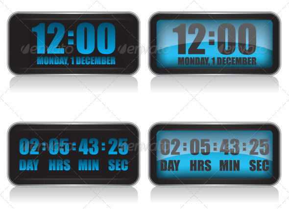 GraphicRiver Digital Clock and Countdown 6504614