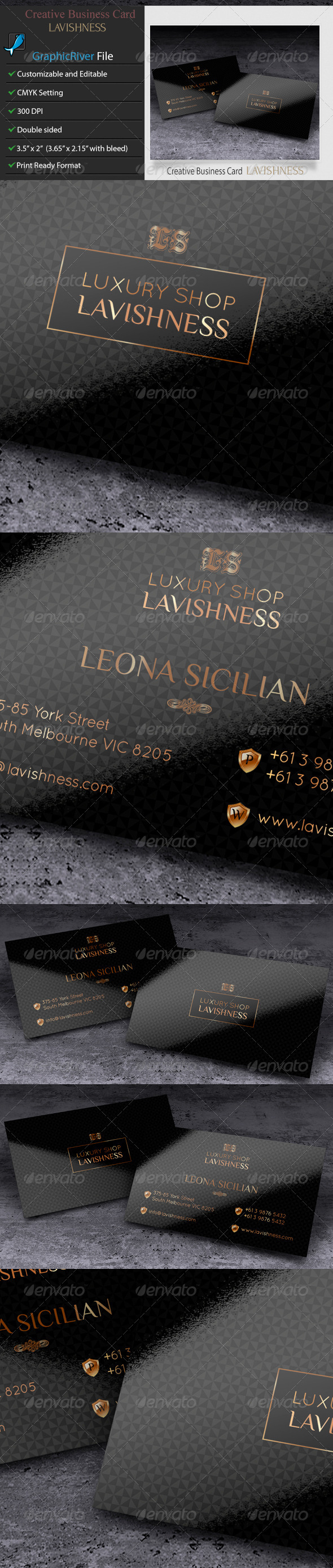 GraphicRiver Business Card Lavishness 6504821