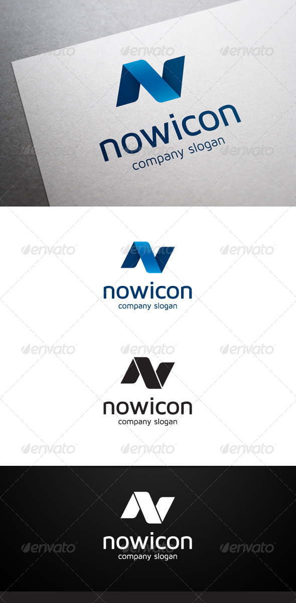 GraphicRiver Nowicon N Letter Logo 6504876