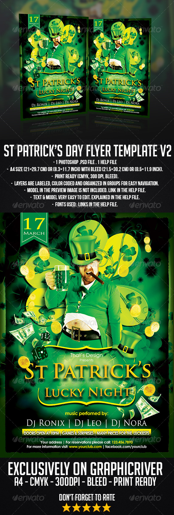 GraphicRiver St Patrick s Flyer Template 6504905