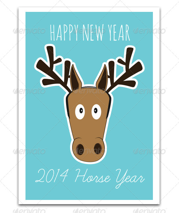 GraphicRiver Happy Horse Year 6505001