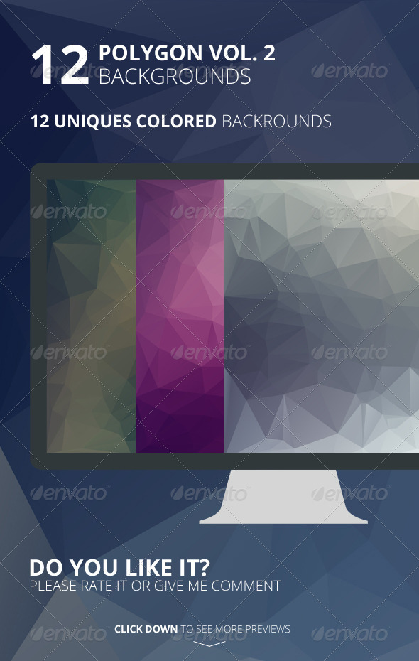 GraphicRiver 12 Polygon Backgrounds Vol 2 6505065