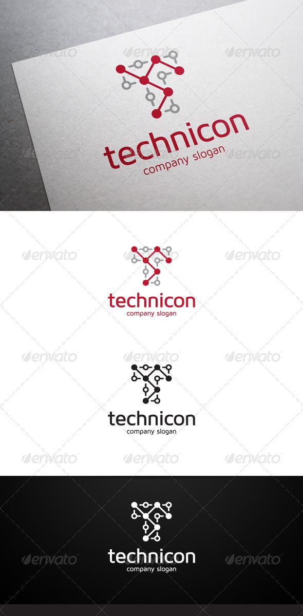 GraphicRiver Technicon T Letter Logo 6505100