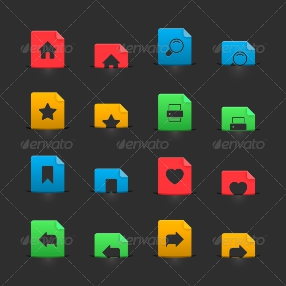 GraphicRiver Website Interface Buttons on Moving Stubs 6505118