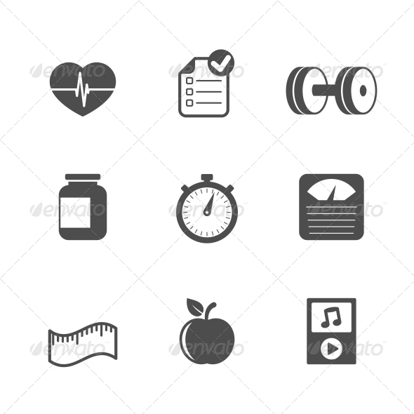 GraphicRiver Fitness Icons Set 6505121