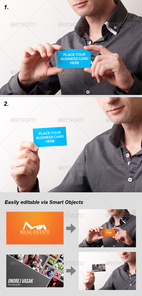 GraphicRiver 2 Photo-Realistic Business Card Mock-Ups 6497570