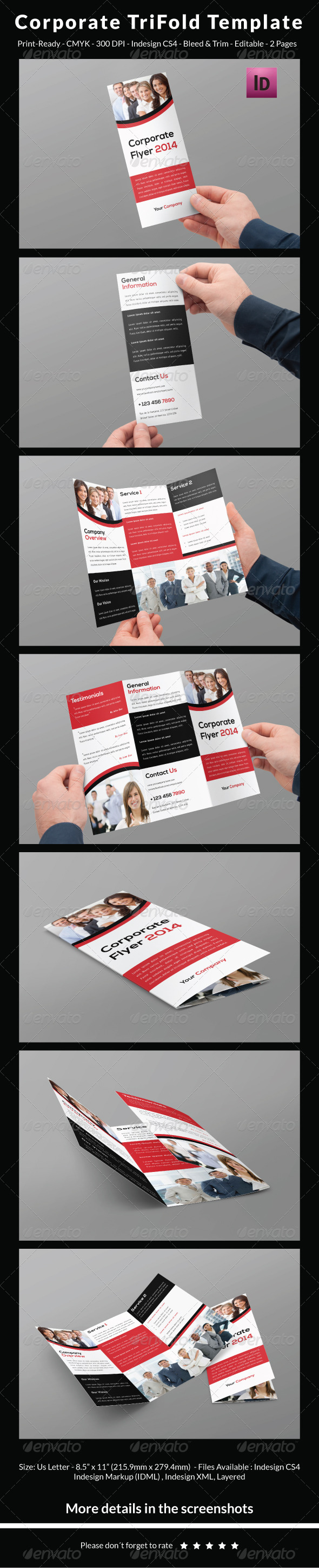 GraphicRiver Corporate Trifold Template 6505573