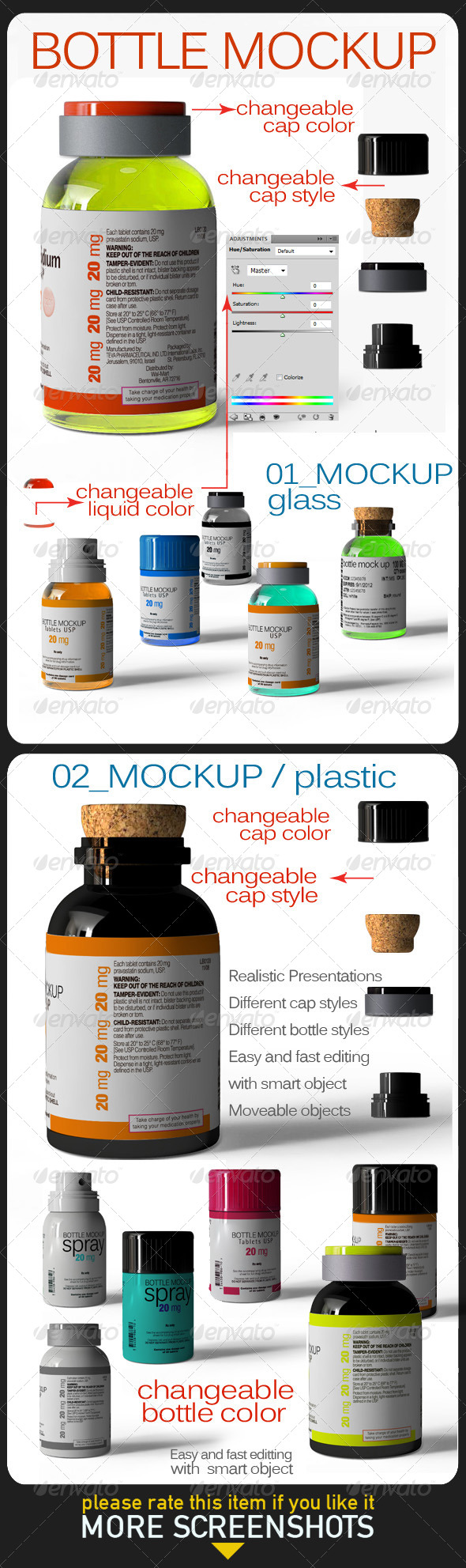 GraphicRiver Bottle Mock Up 6505907