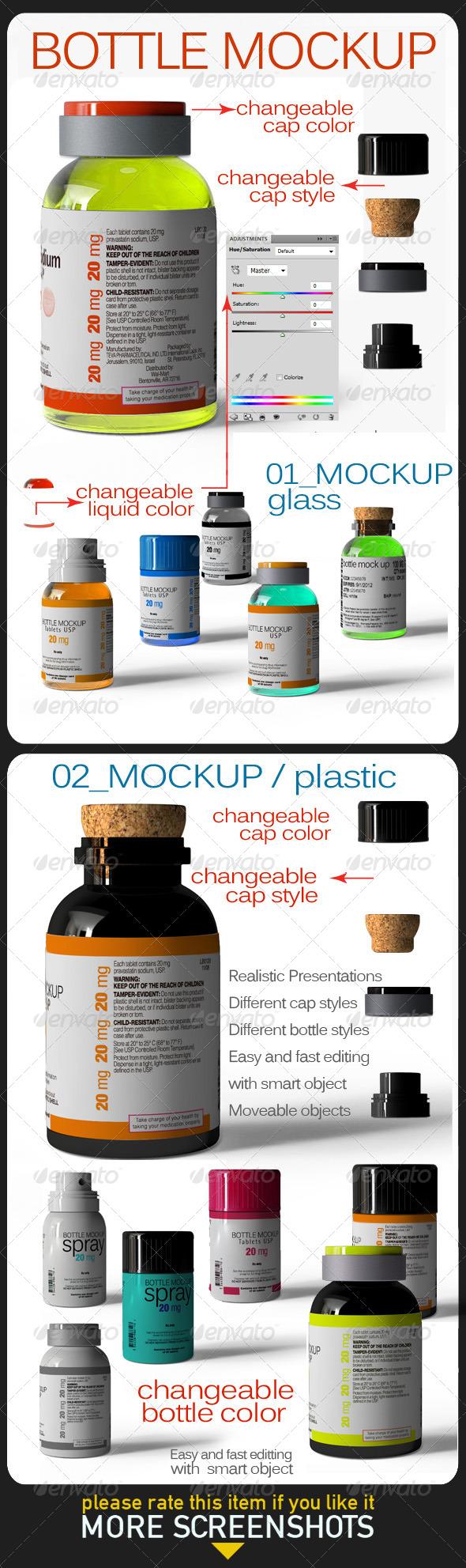 Bottle Mock Up - Product Mock-Ups Graphics
