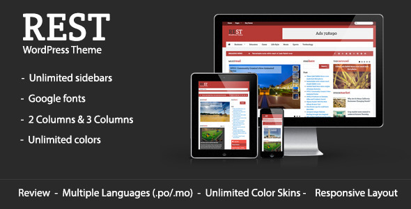 ThemeForest Rest WordPress Blog & Magazine Theme 6502978
