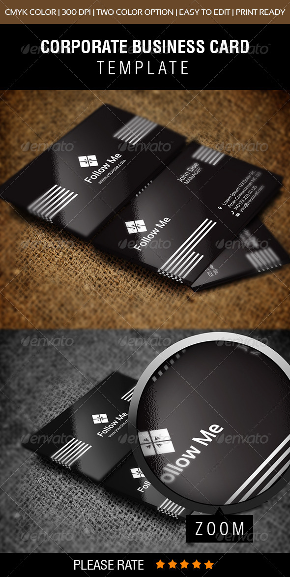 GraphicRiver Follow Me Business Card 6506065