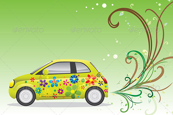 GraphicRiver Green Car 6506079