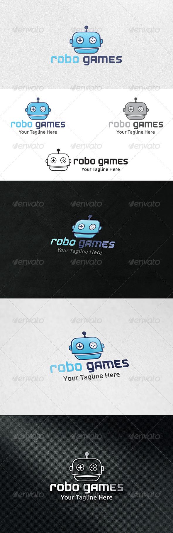 GraphicRiver Robot Games Logo Template 6502129