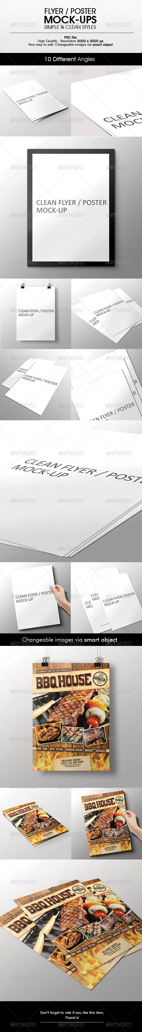 GraphicRiver Flyer Poster Mock-Up 6506186