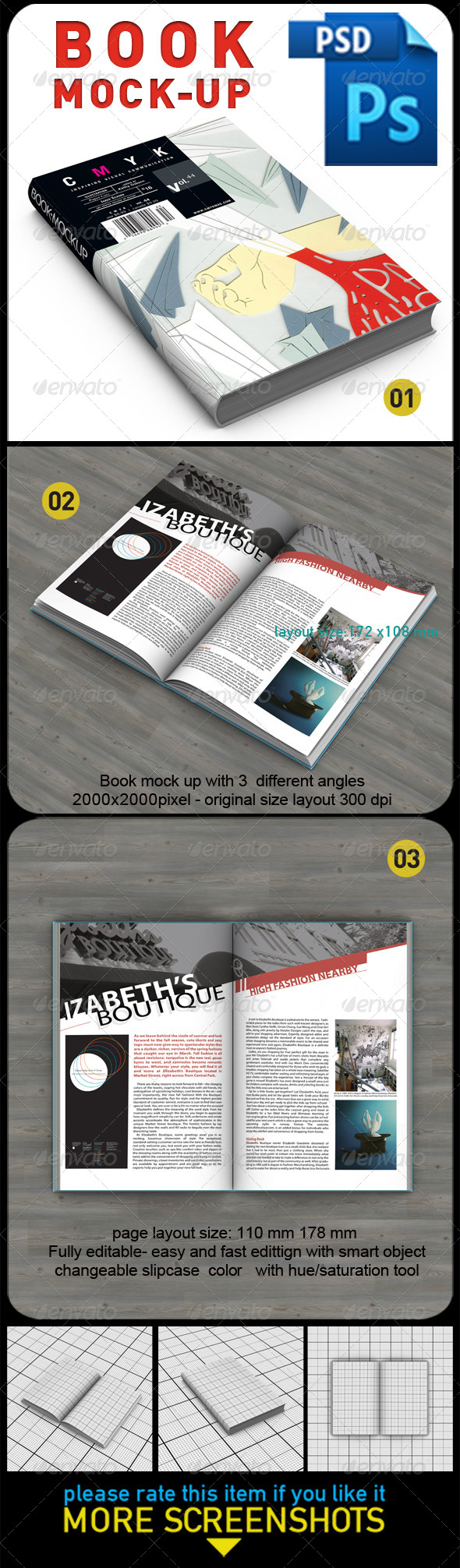 Book Mock Up - Books Print