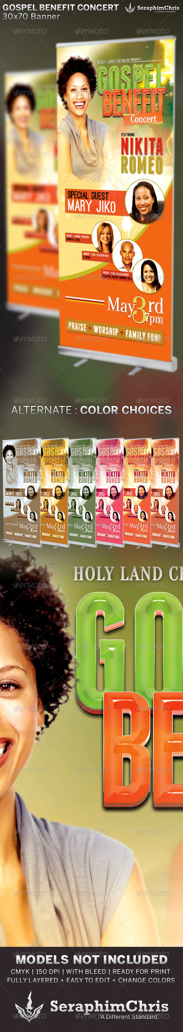 GraphicRiver Gospel Benefit Concert Church Banner Template 6506316