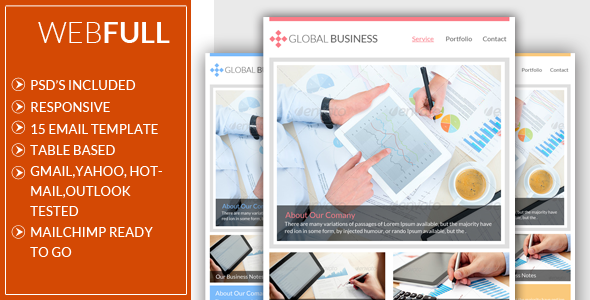 ThemeForest Webful Global Business Email Template 6498265
