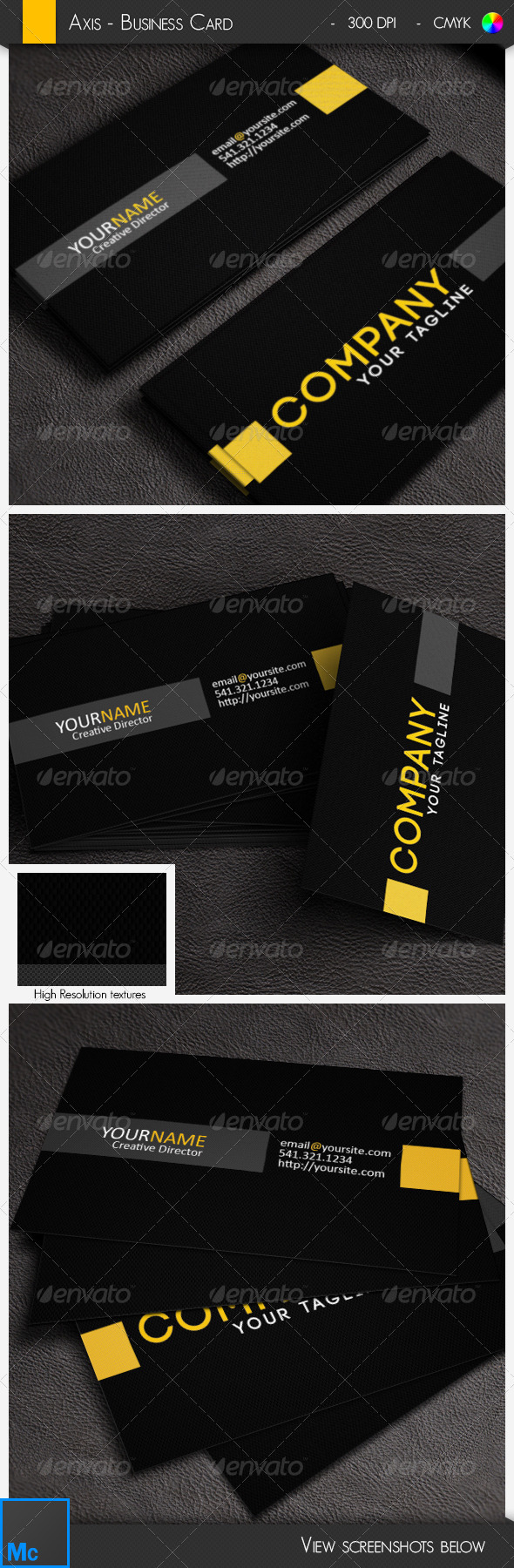 GraphicRiver Axis Corporate Business Card 6506323