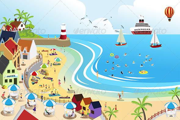 GraphicRiver Beach Town 6506325