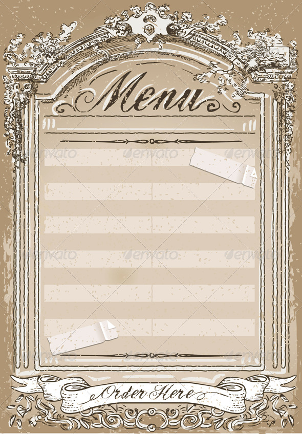 GraphicRiver Vintage Graphic Page for Restaurant Menu 6506334