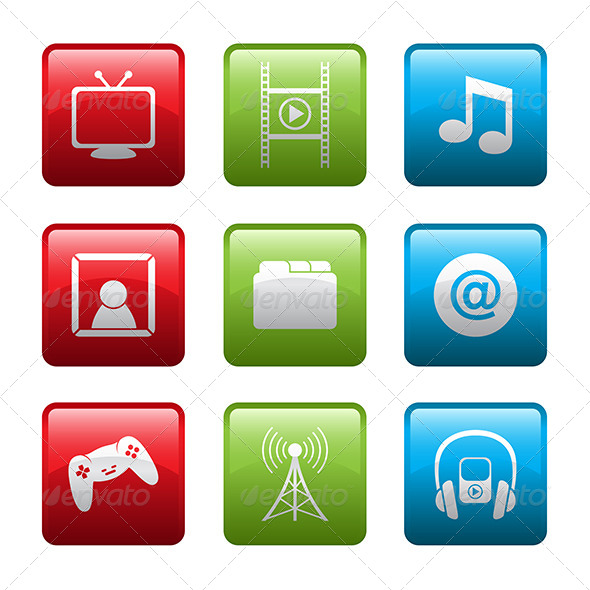 GraphicRiver Electronic Entertainment Icons 6506343
