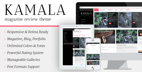 Kamala – Multi-purpose/Magazine/Review Theme - Blog / Magazine WordPress