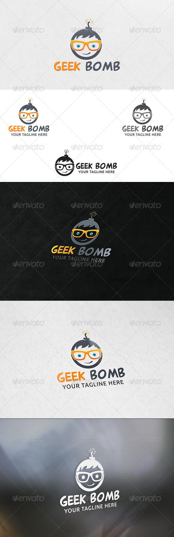 GraphicRiver Geek Bomb V2 Logo Template 6506727