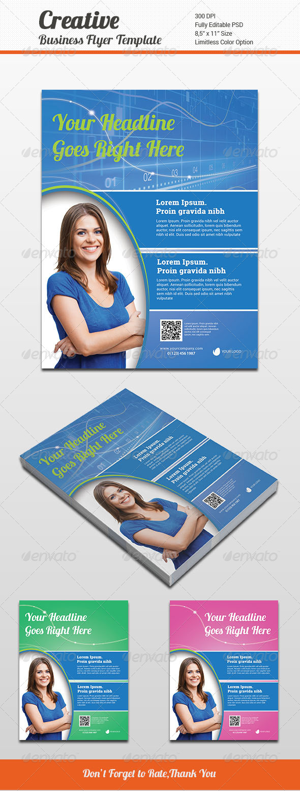 GraphicRiver Creative Business Flyer Template 6479416