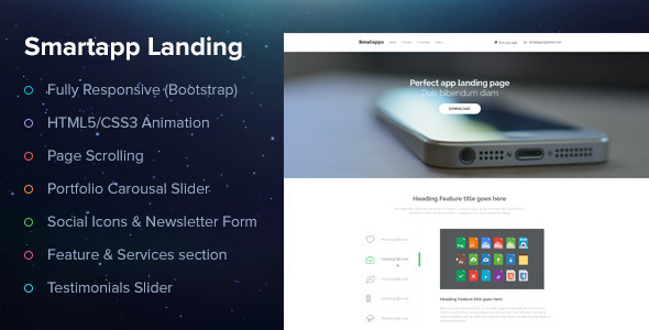 screen1.  large preview Smart App Landing Page (Creative)