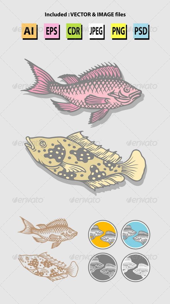 GraphicRiver Fish Sketches 6506979
