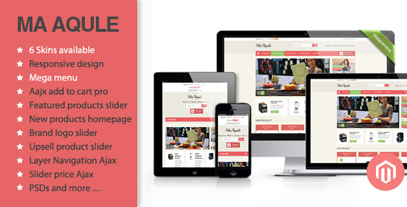 Aqule houseware is a responsive Magento theme of Plazathemes. Extremely nice and clean layout, and have many colors you can choose to build a website. This tem
