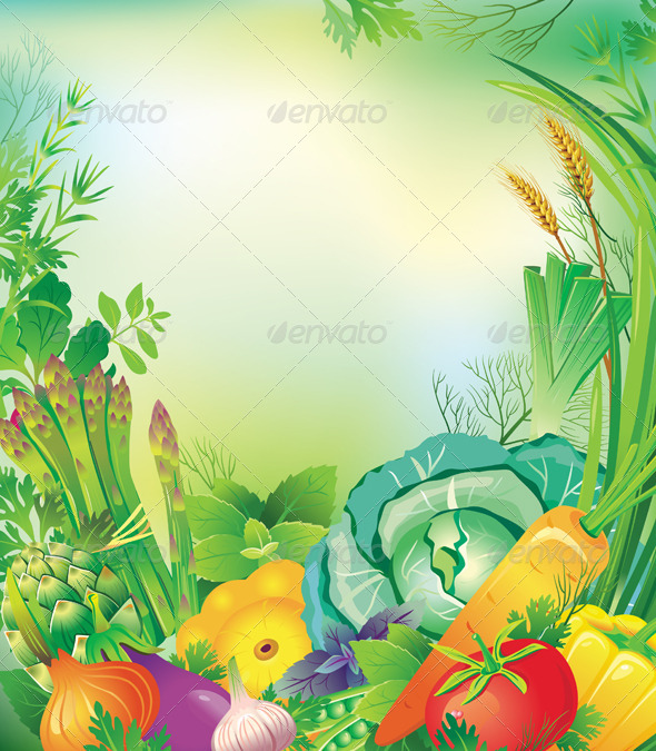 GraphicRiver Frame of Vegetables and Herbs 6507117